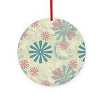 Swirl Flowers Ornament (Round)