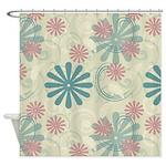 Swirl Flowers Shower Curtain