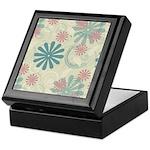 Swirl Flowers Keepsake Box