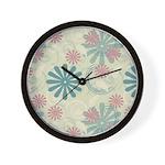 Swirl Flowers Wall Clock