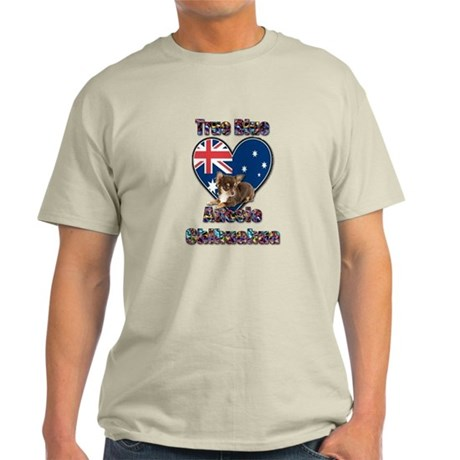 True Blue Aussie Chihuahua 2 Light T-Shirt