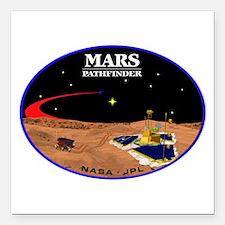 "Mars Pathfinder Square Car Magnet 3"" x 3"""