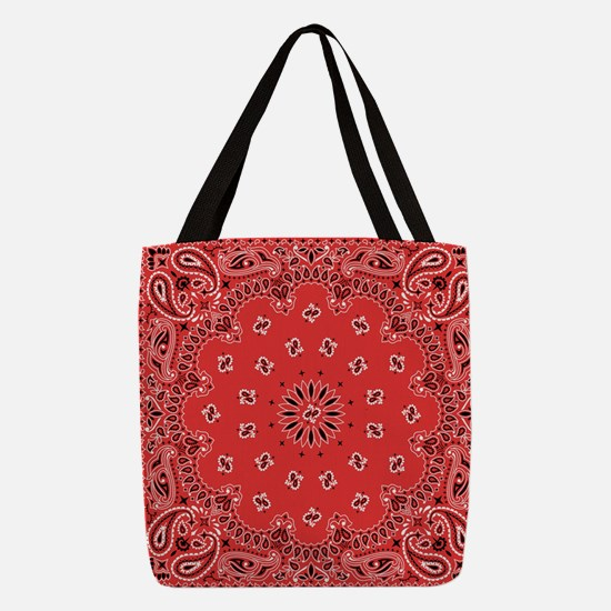 Red Bandana Polyester Tote Bag