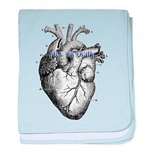 """All in Vein """"Heart Diagram"""" baby blanket"""