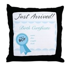 Just Arrived Throw Pillow