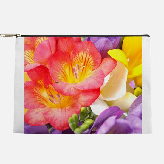 Colorful Flowers Makeup Pouch