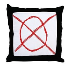 Slenderman Operator Symbol Throw Pillow
