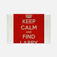 Keep Calm and Find Larry Rectangle Magnet