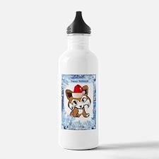 Happy Holiday Corgi Water Bottle