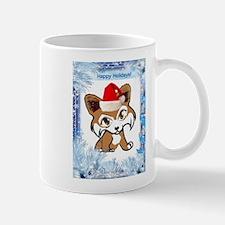 Happy Holiday Corgi Mug