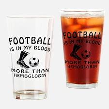 Football Designs Drinking Glass