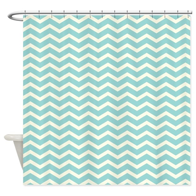 Chevron Stripes Shower Curtain By Be Inspired By Life