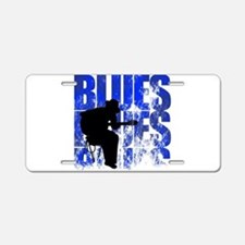 blues guitar Aluminum License Plate