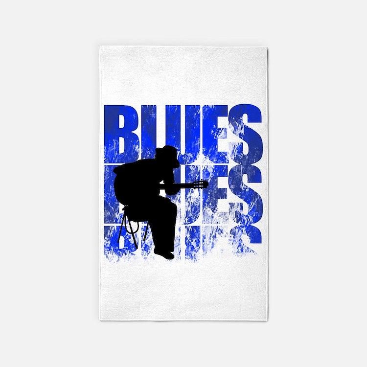 blues guitar 3'x5' Area Rug