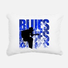blues guitar Rectangular Canvas Pillow