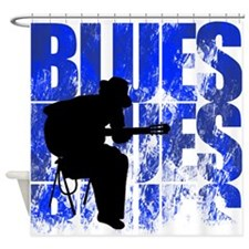 blues guitar Shower Curtain