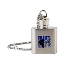 blues guitar Flask Necklace
