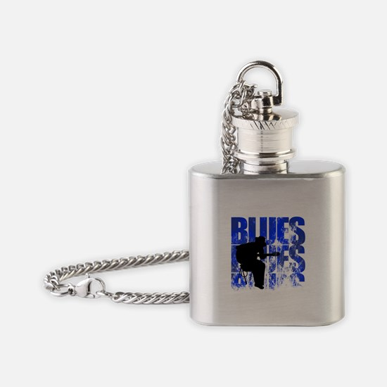 blues guitar Flask Necklace