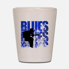 blues guitar Shot Glass