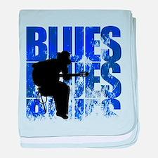 blues guitar baby blanket