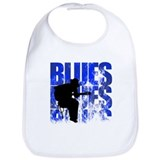 Blues Cotton Bibs