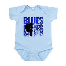 blues guitar Infant Bodysuit