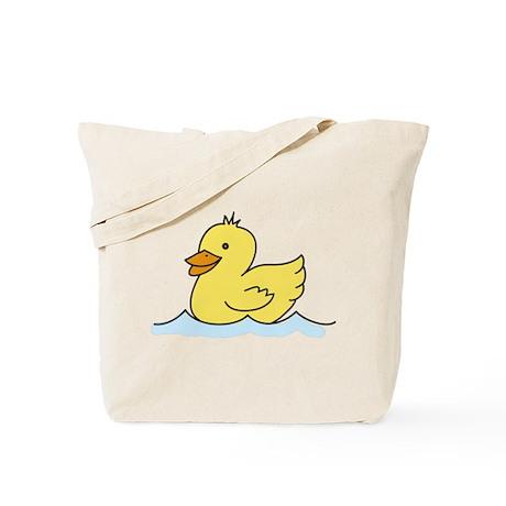 Duck Swimming Tote Bag