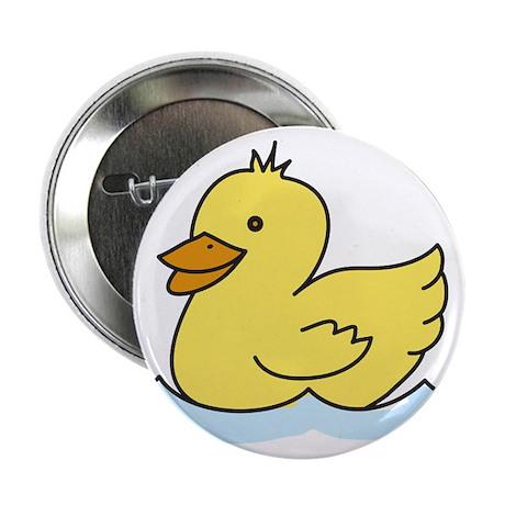 "Duck Swimming 2.25"" Button"