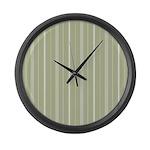 White Stripes Large Wall Clock