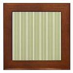 White Stripes Framed Tile