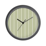 White Stripes Wall Clock