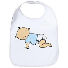 Crawling Baby Boy Bib