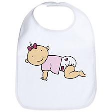 Crawling Baby Girl Bib