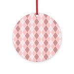 Pink Argyle Ornament (Round)