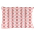Pink Argyle Pillow Case