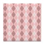 Pink Argyle Tile Coaster