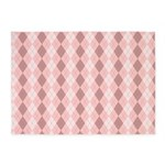 Pink Argyle 5'x7'Area Rug