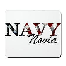 Novia del Navy (Bandera) Mousepad