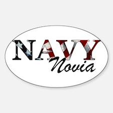 Novia del Navy (Bandera) Oval Decal