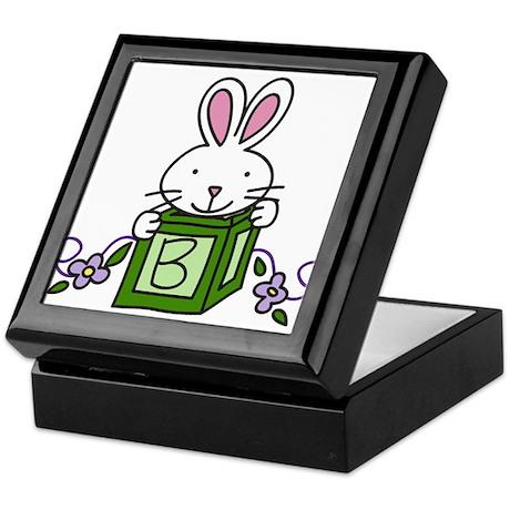 Bunny With Block Keepsake Box