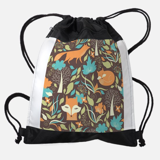 Woodland Fox Drawstring Bag