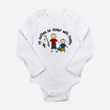Rather Be Fishing Long Sleeve Infant Bodysuit