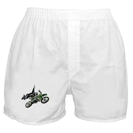 Freestyling on a dirt bike Boxer Shorts