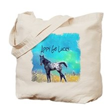 Appy Go Lucky Horse Tote Bag