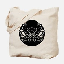 Wave moon rabbit Tote Bag