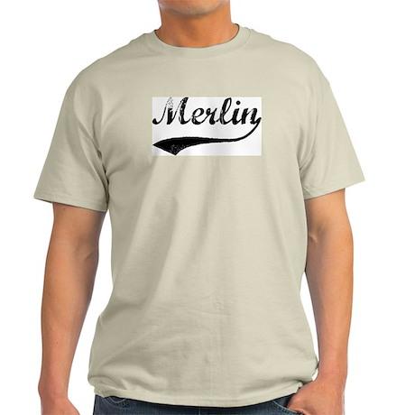 Vintage: Merlin Ash Grey T-Shirt