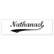 Vintage: Nathanael Bumper Bumper Sticker