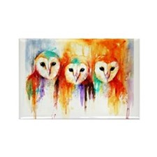 Row of Owls ~ Fridge Magnet