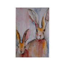 2 Hares ~ Fridge Magnet
