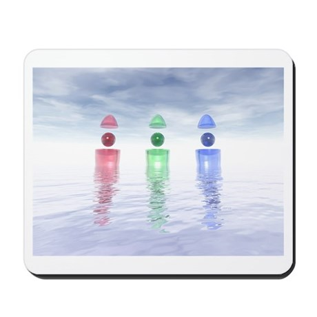 Surreal Glass Structures Mousepad